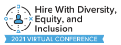 hire with diversity equity and inclusion logo