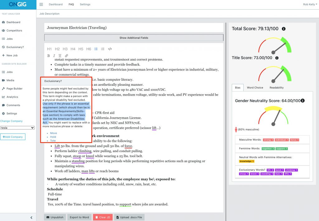 tesla_job_description_language