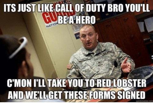 marine recruiter memes red lobster