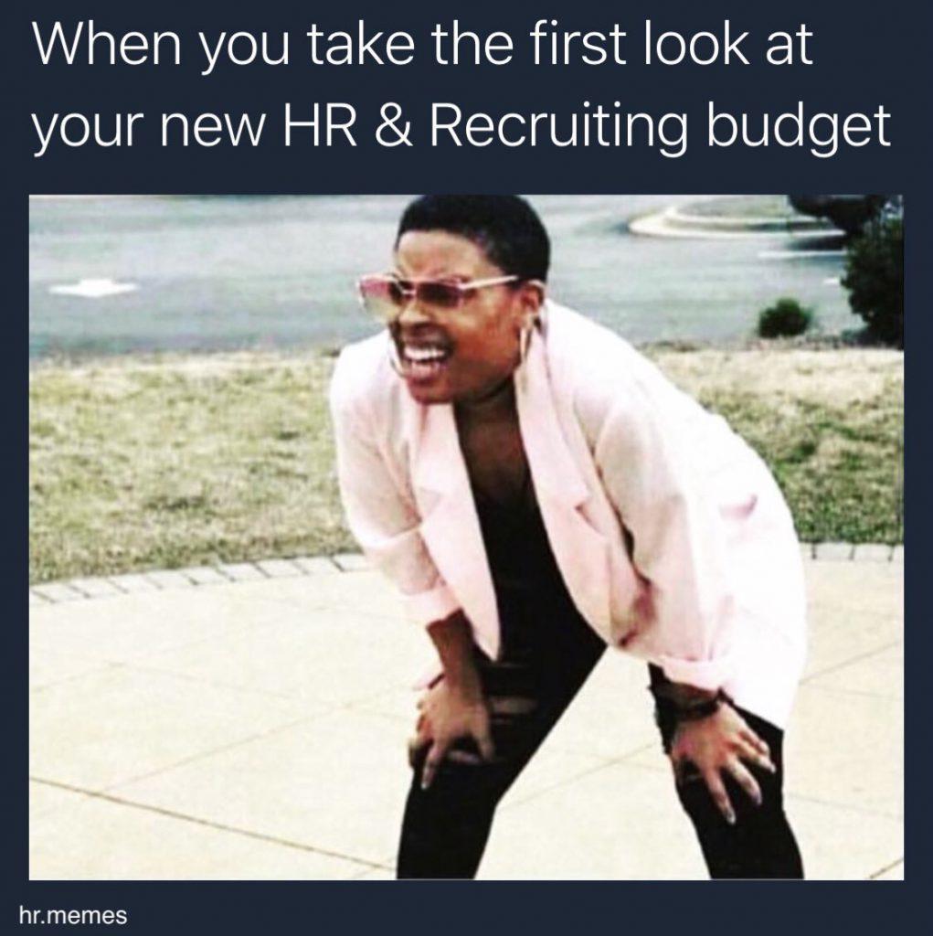 hr budget memes