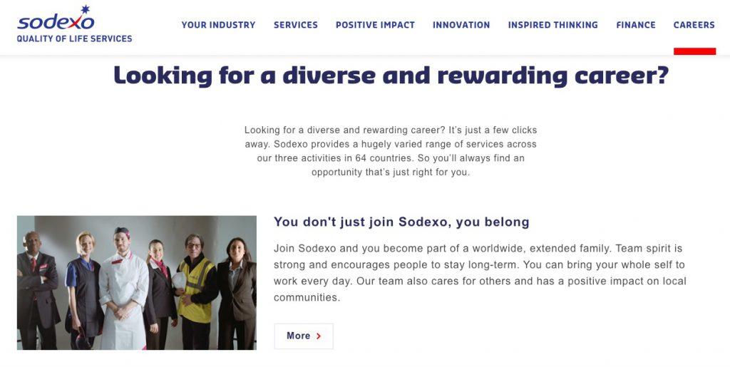 Sodexo employee value proposition example
