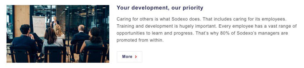 Employee value proposition example sodexo