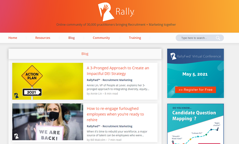rally recruitment marketing blog