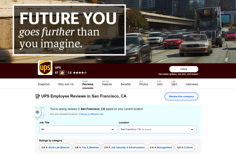 Indeed company review site