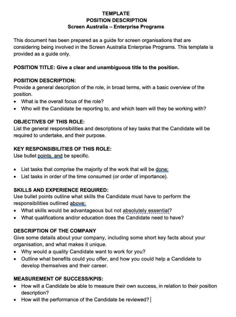 Position-Description-Example-Template-au